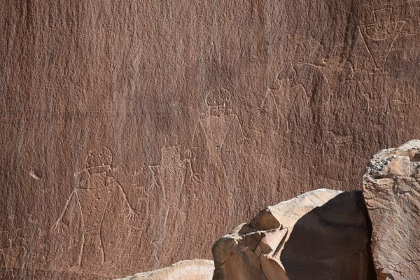 Petroglyphs in Capitol Reef