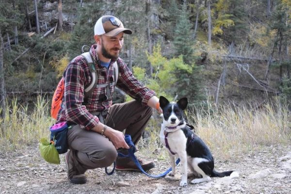 Wade Ellett and his dog Inkling
