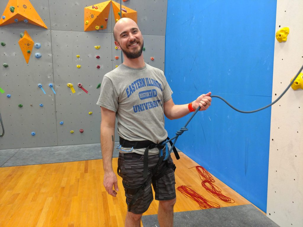 Wade in climbing gym