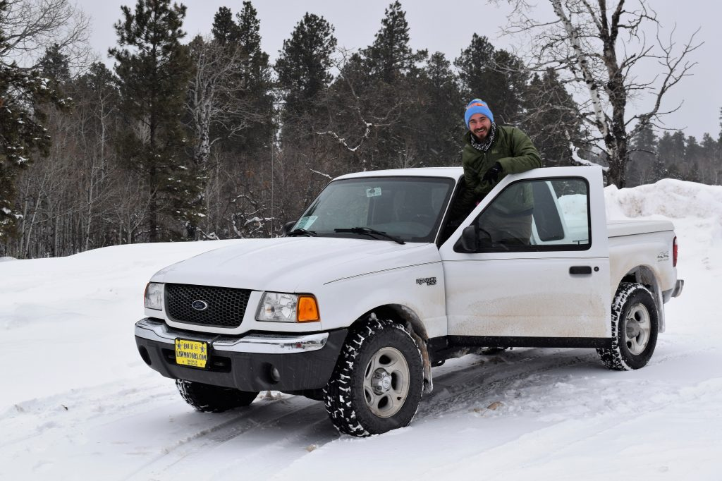 Having fun in the 2001 Ford Ranger