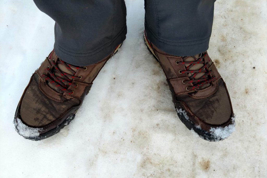 Ridgemont Outfitters Monty Hi Hiking Boots in the snow