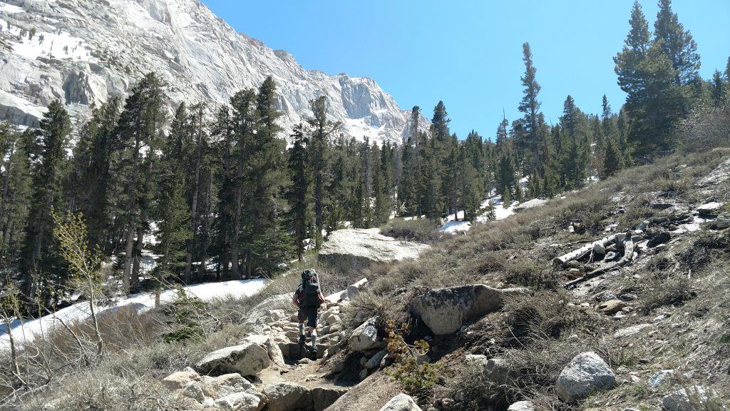 Hiking into the John Muir Wilderness Area
