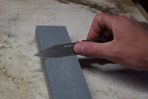 Sharpening the Paraframe on a whetstone