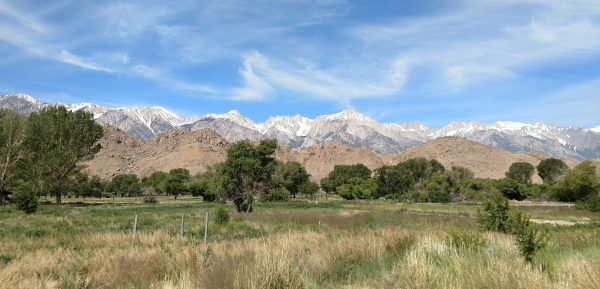 A morning view of the Sierras, before my Mount Whitney Experience