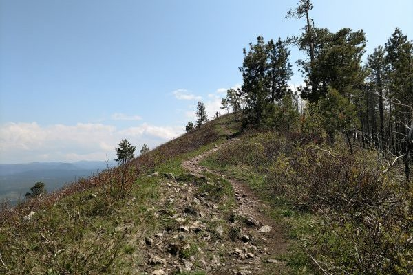 Nearing the summit of Crow Peak