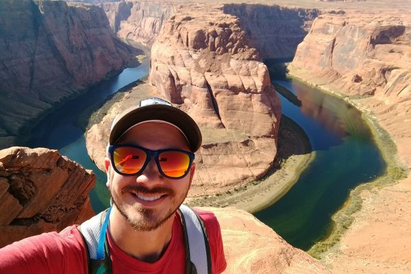 Wearing Knockaround Sunglasses at Horseshoe Bend