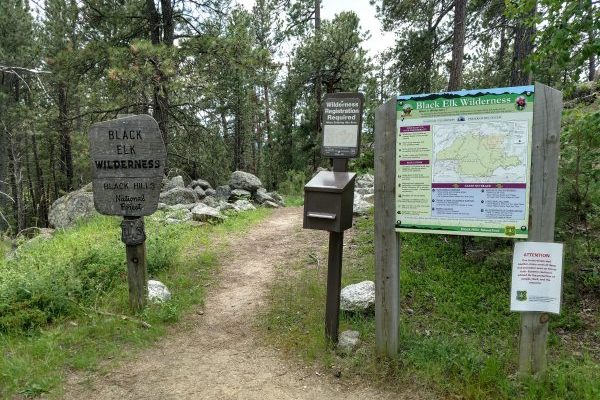 Black Elk Wilderness registration station