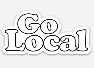 Go local sticker
