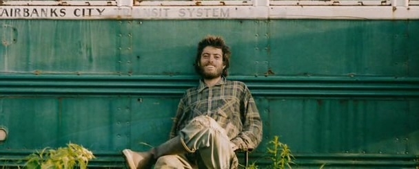Chris McCandless in front of the magic bus
