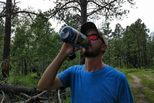 Staying hydrated is crucial to staying cool on the trail.